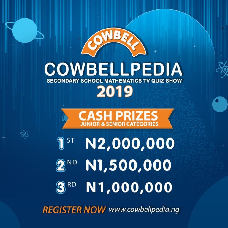 Cowbellpedia Mathematics Competition, 2019 | Over ₦5 Million to Be Won