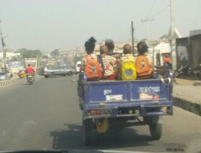 OUTRAGEOUS! SEE How Kids Were Transported to School in Lokoja
