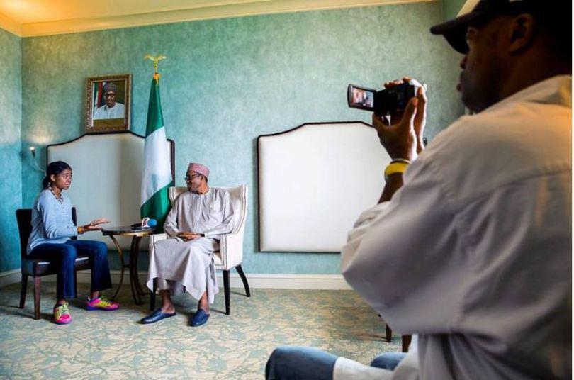 Zuriel Oduwole Interviewing President Buhari