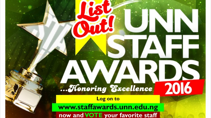 Vote Your Favorite Staff In The UNN Staff Awards 2016