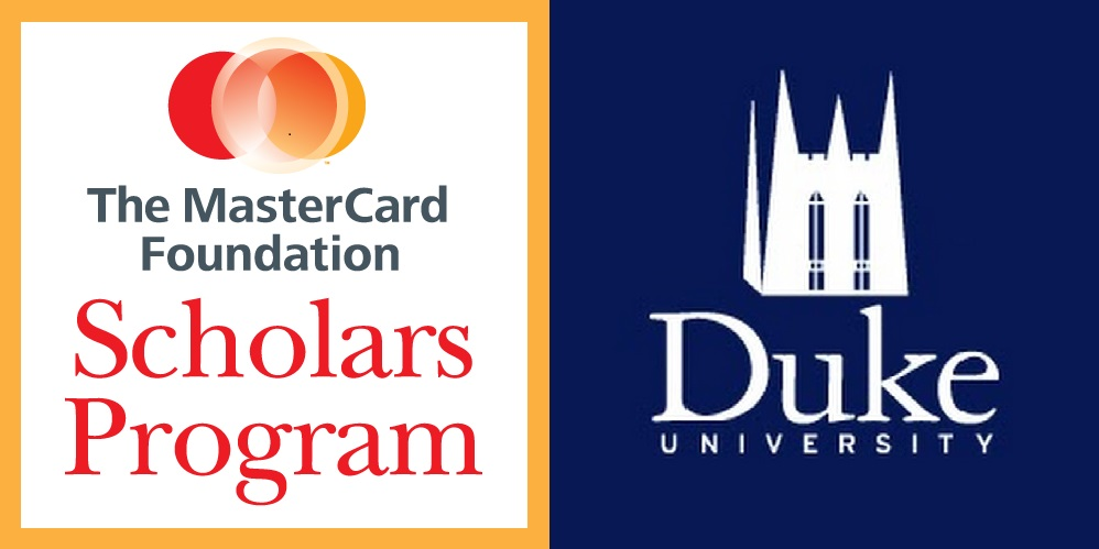 2017 MasterCard Foundation Undergraduate Scholarships at Duke University
