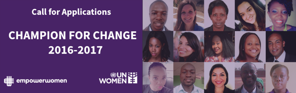 2016/2017 UN Women's Empower Women Global Champions for Change