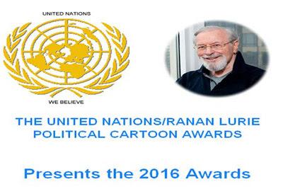 2016 United Nations/Ranan Lurie  Political Cartoon Awards