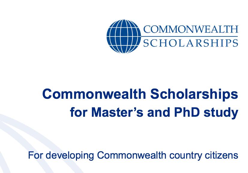 2017 Commonwealth Shared Scholarship Scheme for Study in UK Universities