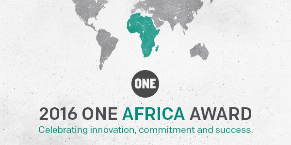 2016 ONE Africa Award for Sustainable Development Goals Driven Projects ($100,000)