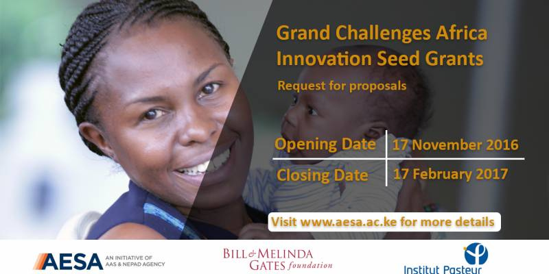 2017 AESA Grand Challenges Africa Innovation Grants ($100,000 USD)