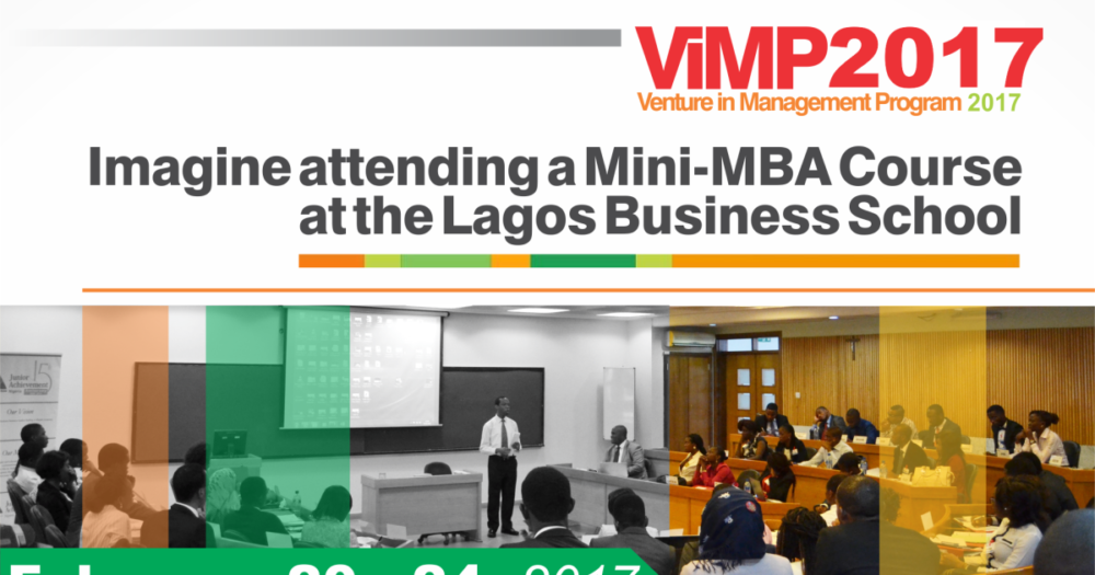 2017 Venture in Management Program (Mini-MBA Course) for Youth Corpers