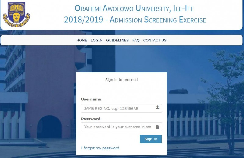 OAU Post UTME Result Released, 2018/2019: How to Check