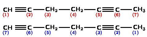 Naming Alkynes