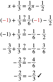 Solving Equations with Fraction Coefficients