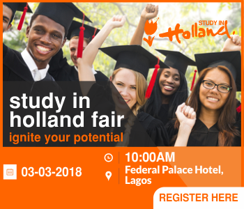 Register for Free for the 2018 Study in Holland Fair - See Registration Details Here