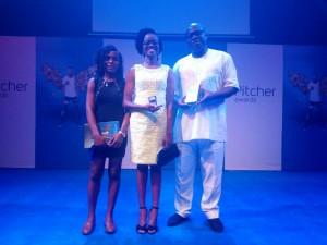Oluwamayowa Oreoluwa Adeyemi and one of her lecturers, Dr. Shaibu Husseini at the Awards