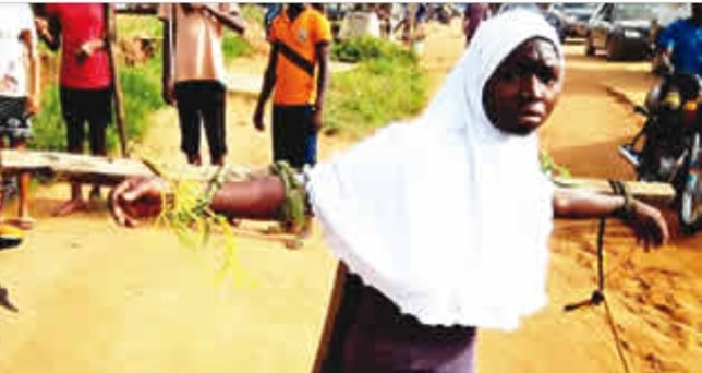 Students Tied to Cross and Flogged For Coming Late to School