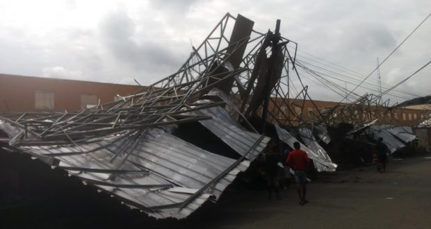 Heavy Rainstorm in Owerri Causes School Building to Collapse