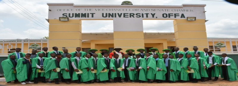 List of Courses Offered at Summit University Offa, Kwara State