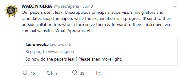 WAEC Discloses That Unscrupulous Elements Leak Examination Papers