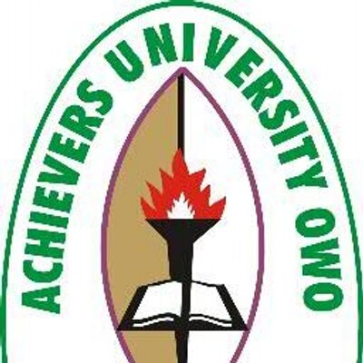 Achievers University Part-Time Admission for 2018/2019 Session Announced