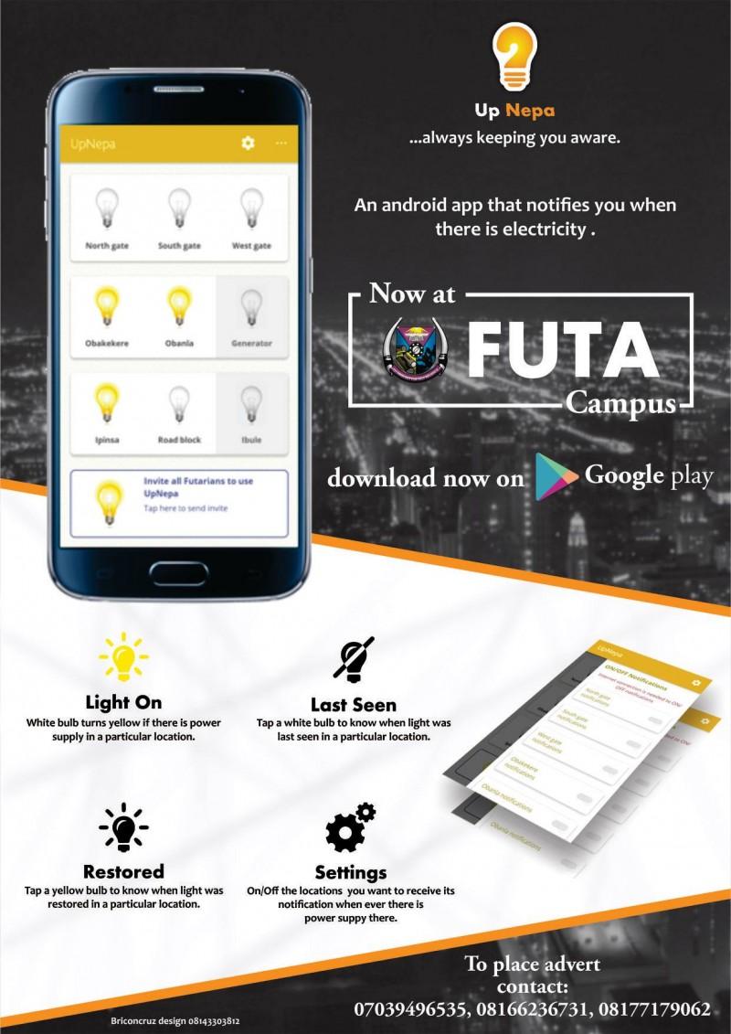 FUTA Students Develop Electricity Notification Software Application
