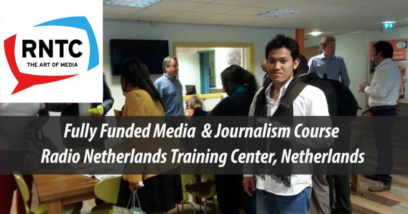 RNTC Fully-Funded Media and Journalism Scholarships in Netherlands, 2018