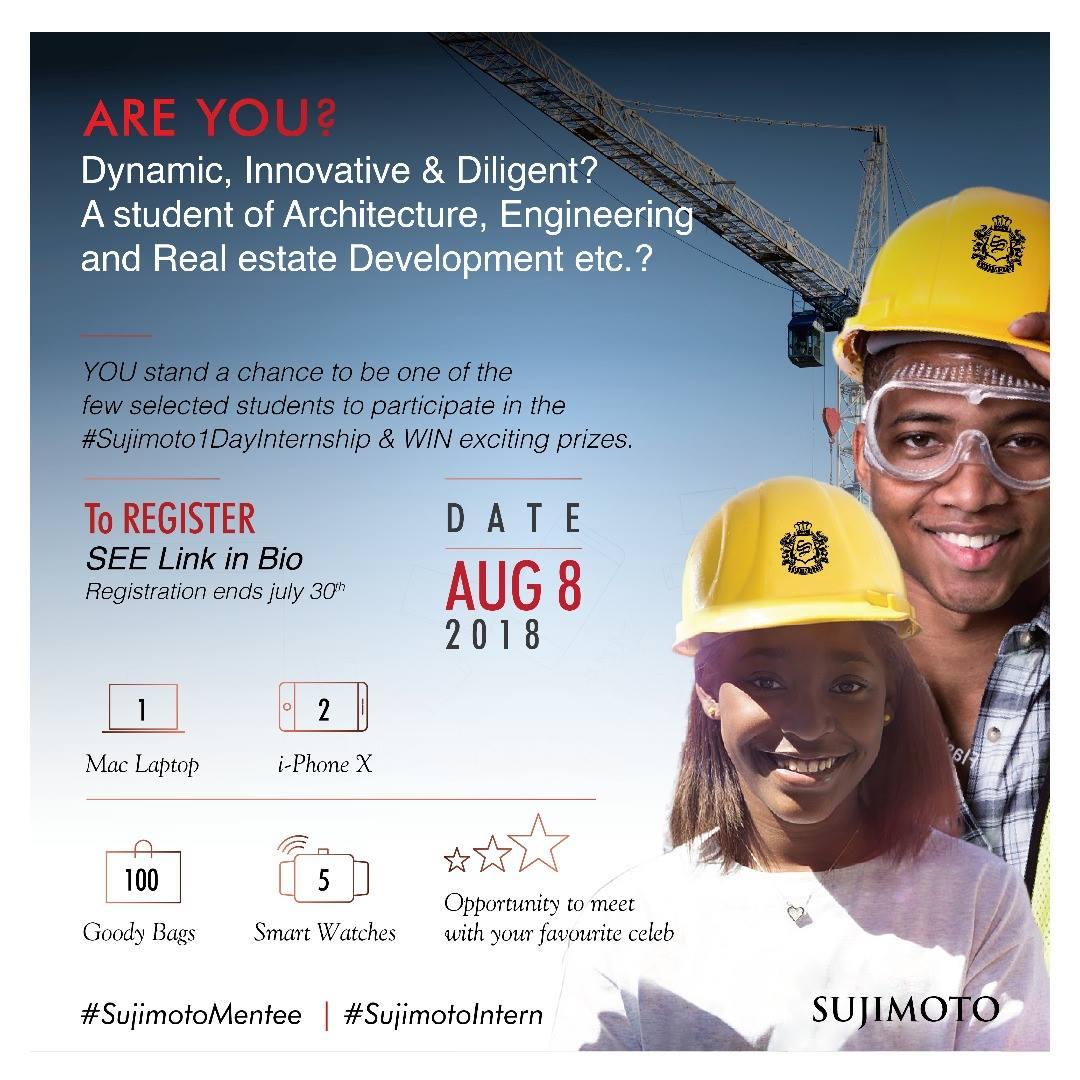 Sujimoto 1-Day Internship Programme for Dynamic Nigerian Students 2018