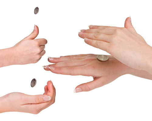 Flipping a coin is similar to genetic inheritance