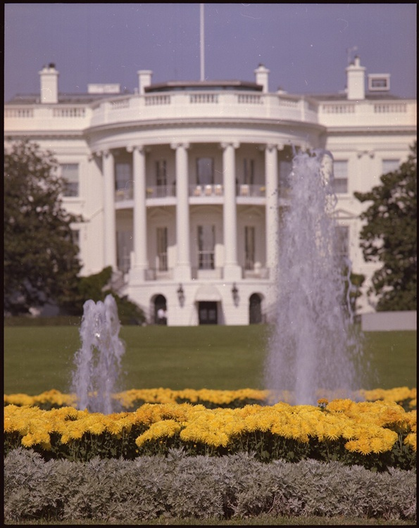 The White House, one of the world's most widely recognized state buildings, symbolizes the authority of the U.S. presidency. (Courtesy U.S. National Archives/Wikimedia Commons)