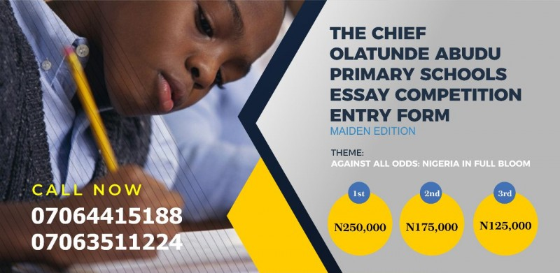 Chief Olatunde Abudu Essay Competition for Primary Schools 2018