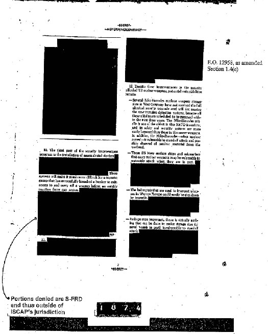 A scanned copy of a CIA document with large amounts of text blacked out.