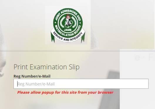 JAMB 2019 UTME Exam Slip Printing | See How to Print Your Exam Slip Here
