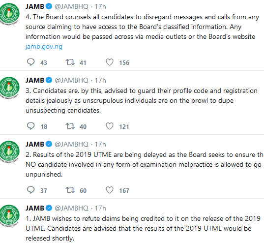 2019 UTME Results Will Soon Be Forwarded to Candidates' Profile - JAMB