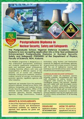 nda postgraduate admission in nuclear security