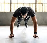 A man doing exercise