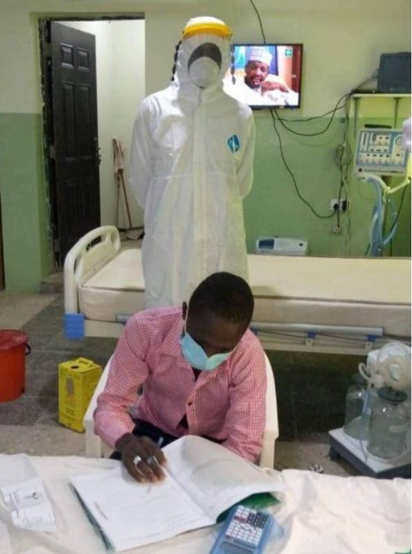 WAEC Candidate in isolation centre