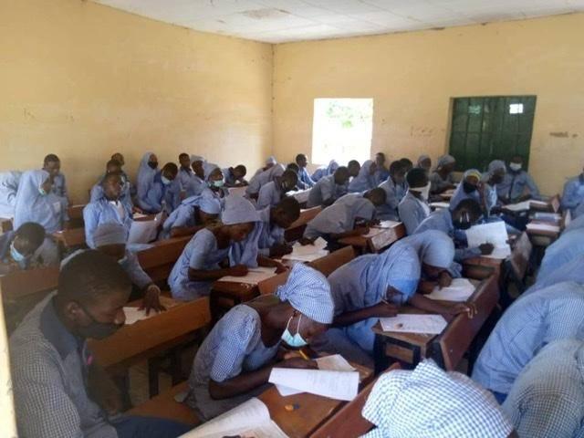 WAEC candidates sitting for WASSCE in Chibok