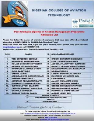 ncat admission list