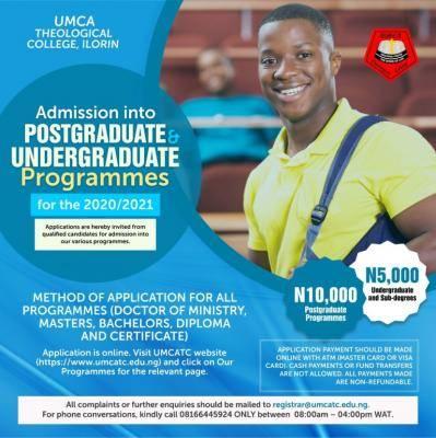 umca theological college (umcatc) admission form