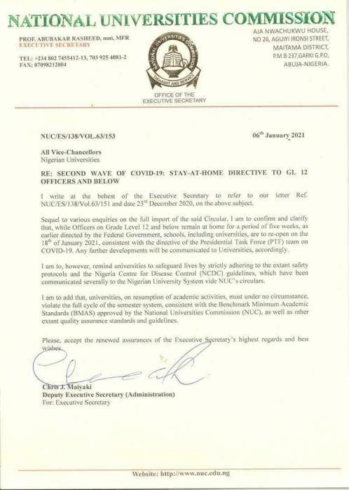nuc okays reopening of universities